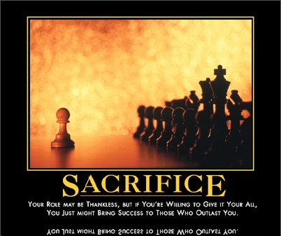 sacrifice by admin in Demotivational posters